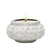 MONDIAL CANDLES: Texture Design Ceramic Container Candle CRACKLE WHITE