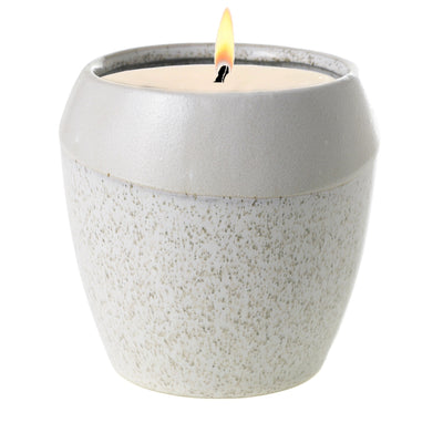 MONDIAL CANDLES: Joie Design Stoneware Container Candle WHITE/GRAY
