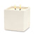 MONDIAL CANDLES: Urban Square Design Large Ceramic Candle Modern Matte White