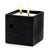 MONDIAL CANDLES: Urban Square Design Large Ceramic Candle Modern Matte Black