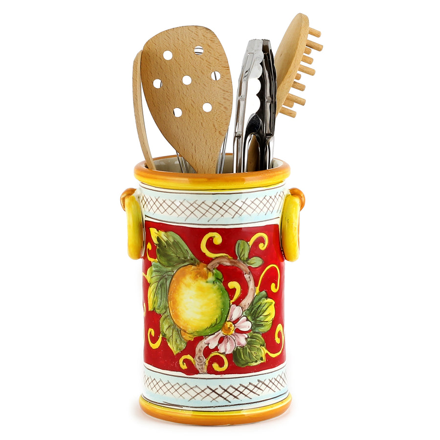 LIMONI FONDO ROSSO: Utensil Wine holder with rings