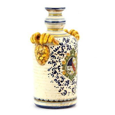 MAJOLICA MONTELUPO: Bottle Teste and Riccioli