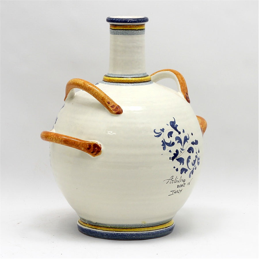 MAJOLICA MONTELUPO: Bottle Palla with four handles