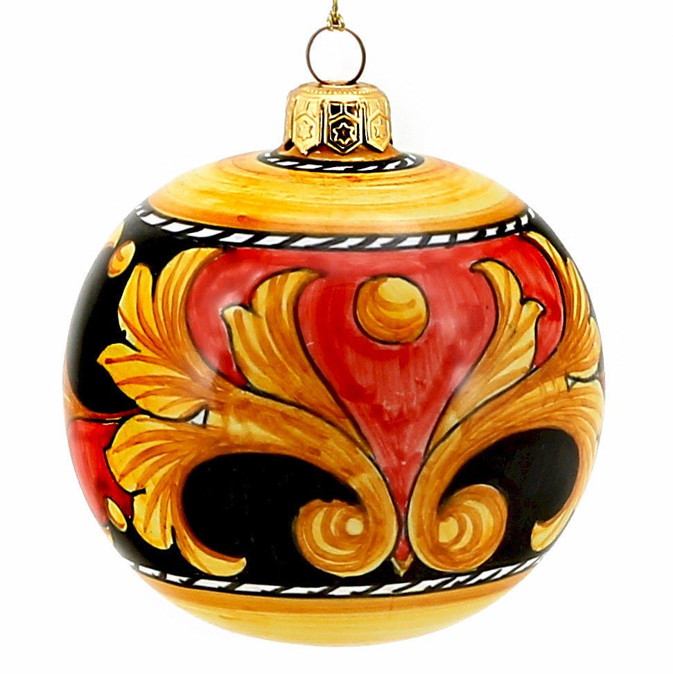 Large round christmas ornaments - Christmas Ornament Deruta Vario Round Ball Large