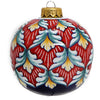 CHRISTMAS ORNAMENT: Deruta Vario Round Ball Large - Red-Green