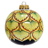 CHRISTMAS ORNAMENT: Deruta Vario Round Ball Large - Green-Red
