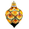 CHRISTMAS ORNAMENT: Drop Ball Hand Painted in Deruta Vario design (Medium)