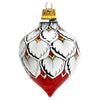 CHRISTMAS ORNAMENT: Drop Ball Hand Painted in Deruta Vario design (Large)