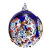 MURANO GLASS: Christmas Ornament Genuine Murrina Millefiori BLUE