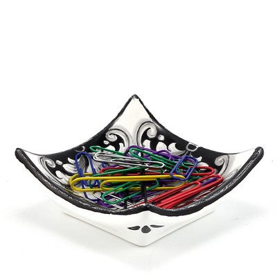 DERUTA VARIO NERO: Paper Clips Holder mini tray
