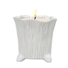 MONDIAL CANDLES: Mellie White Design Ceramic Container Candle WHITE