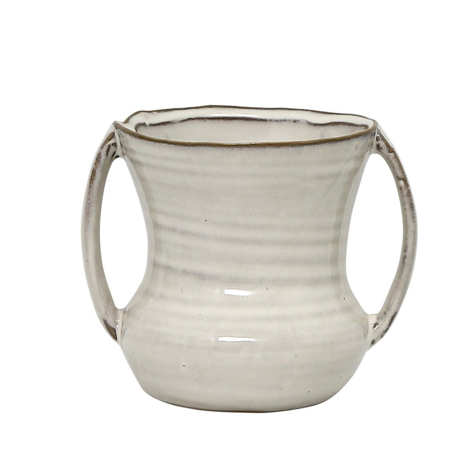 MONDIAL CANDLES: Zara Design Ceramic Container Candle ANTIQUE WHITE