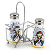 RICCO DERUTA: Salt and Pepper Shaker set w Stainless Steel Top