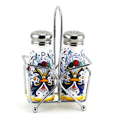 RICCO DERUTA: Salt and Pepper Shaker set with Stainless Steel Top
