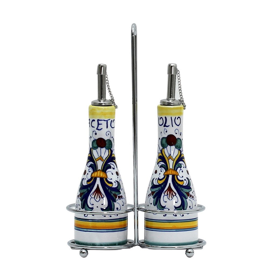 RICCO DERUTA: Oil and Vinegar Cruet on Chrome Rack