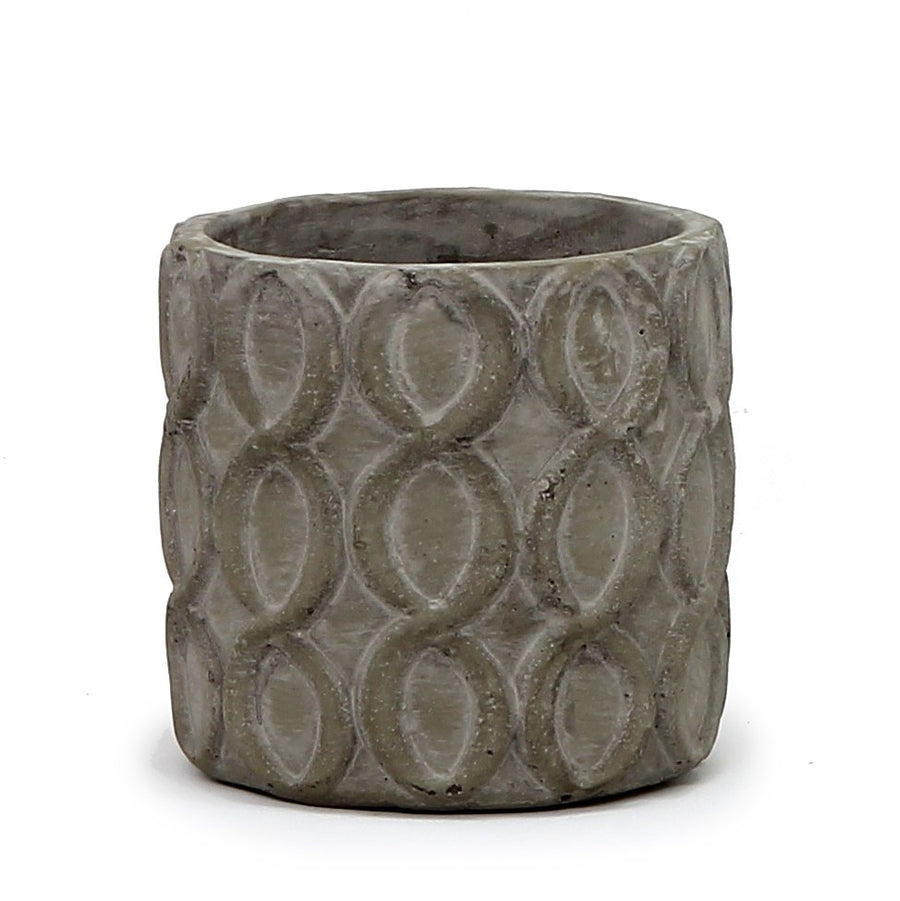 MONDIAL CANDLES: Locket Grey Design Ceramic Container Candle GRAY