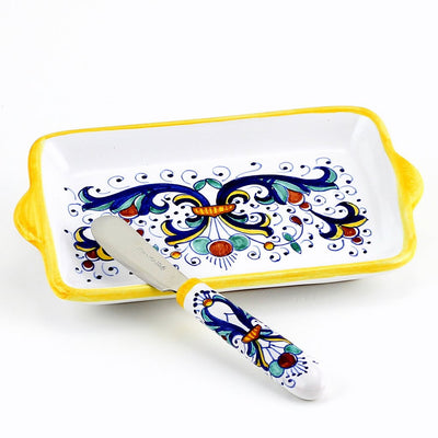 RICCO DERUTA: Butter Dish and Spreader SET