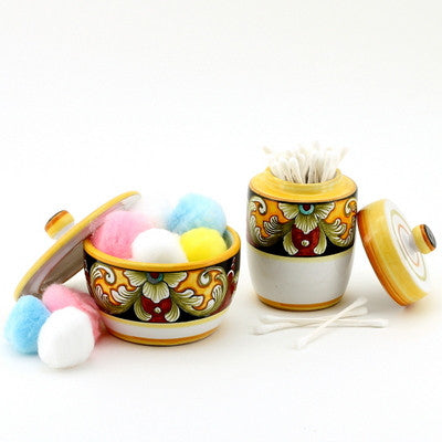 DERUTA VARIO: Cotton Balls Jar and Cotton Swab Holder