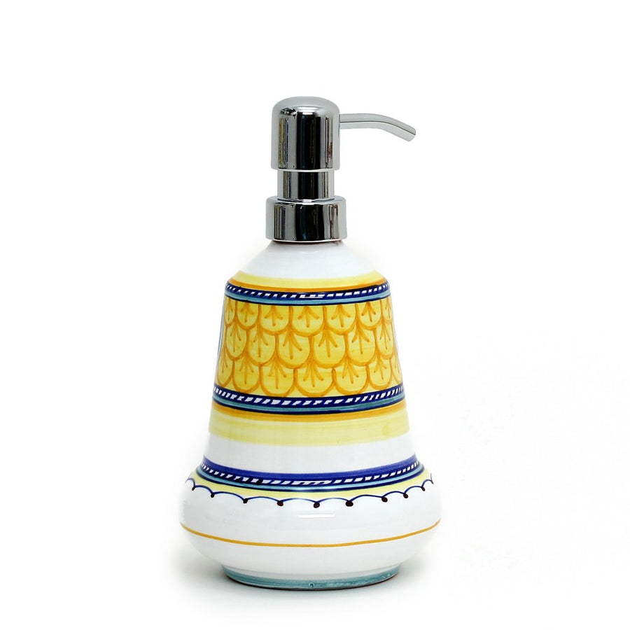 DERUTA CELESTE: Liquid Soap Lotion Dispenser with Chrome Pump (Medium 14 OZ) [NEW!]