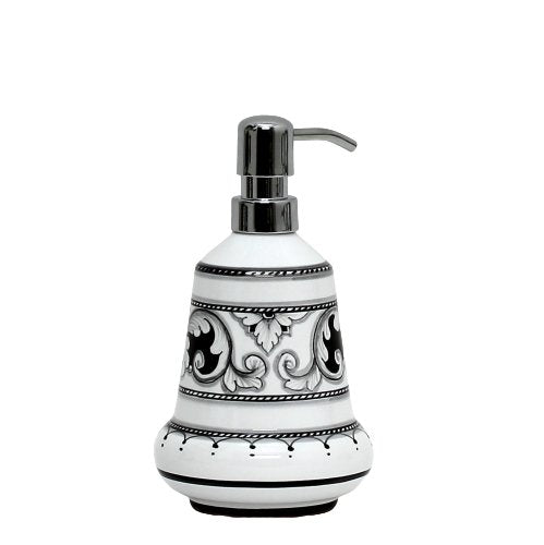 DERUTA VARIO NERO: Liquid Soap/Lotion Dispenser with Chrome Pump (Small 14 OZ)