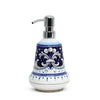 RICCO DERUTA BLUE: Liquid Soap/Lotion Dispenser with Chrome Pump (Small 14 OZ)