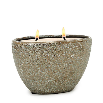 MONDIAL CANDLES: Corinth Design Oval Ceramic Container Candle Large