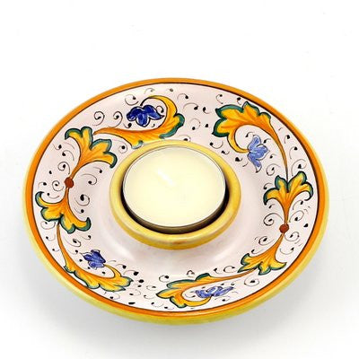 PERUGINO: Deruta Tea Light Saucer