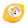 POSITANO: Deruta oval soap dish DeLuxe with Positano Lemon shaped scented glycerin soap