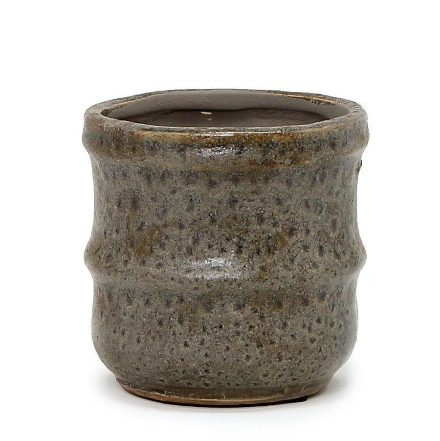 MONDIAL CANDLES: Hudson Design Ceramic Container Candle RUSTIC BROWN