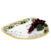 DERUTA BELLA: Triangular Large Centerpiece Platter - Foglie Design