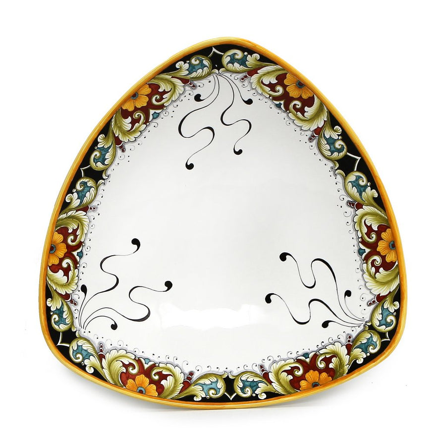 DERUTA BELLA: Triangular Large Centerpiece Platter - Deruta Vario Design