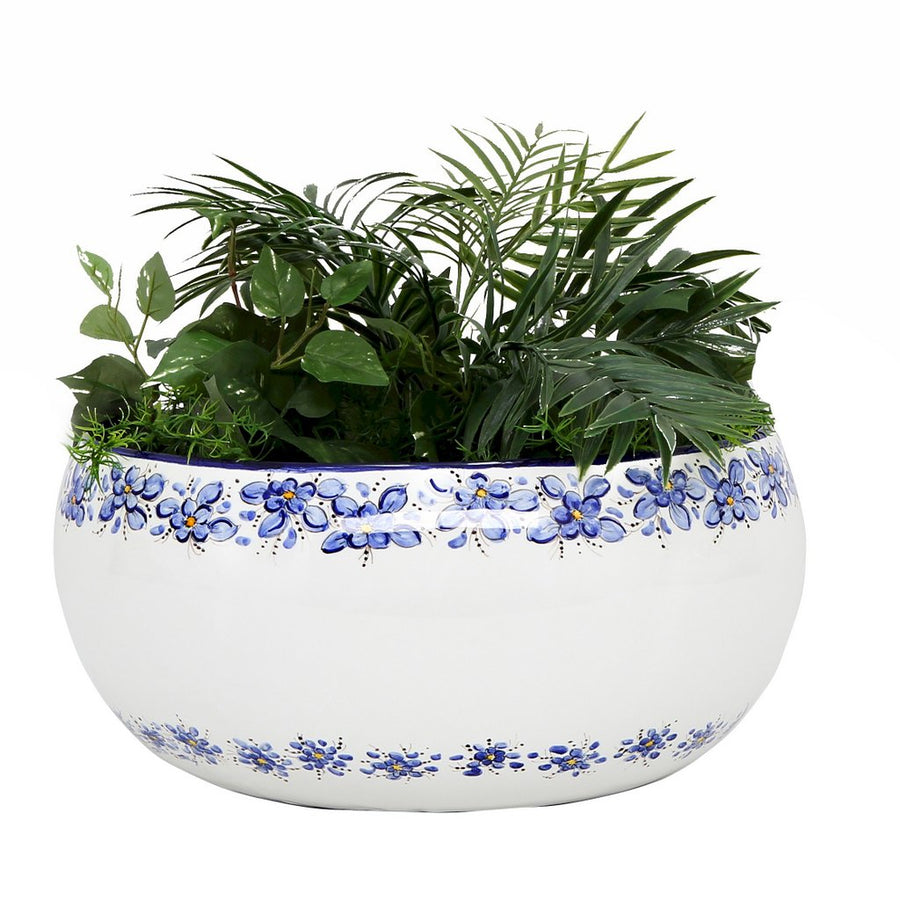 DERUTA BELLA: Round Large Centerpiece Bowl - Deruta Blue Design