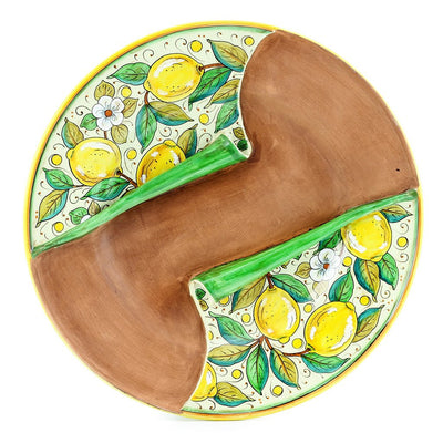UNDRESSED: Round Centerpiece with lemon design over terracotta