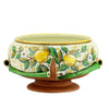 UNDRESSED: Round Footed Centerpiece with lemon design over terracotta