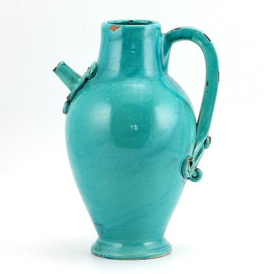 SCAVO AQUAMARINE: Brocca Pitcher Plain w Square Handle