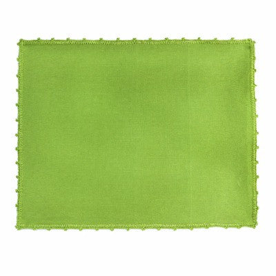 BUSATTI: Placemat Zodiaco w Lace (60% Linen and 40% Cotton) GREEN