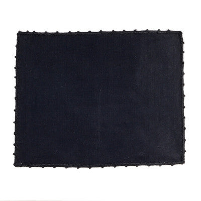 BUSATTI: Placemat Zodiaco w Lace (60% Linen and 40% Cotton) BLACK