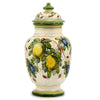 MAJOLICA LIMONI MONTELUPO: Tall footed canister