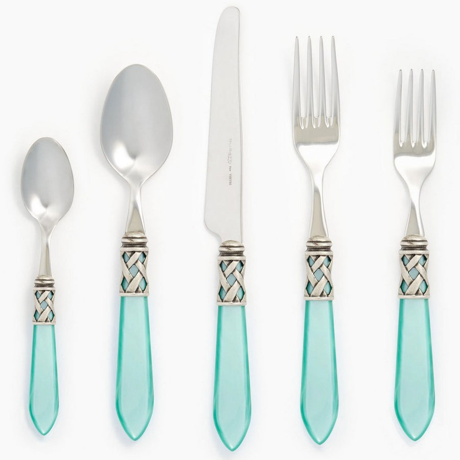 VIETRI: Aladdin Antique Aqua Five-Piece Place Setting