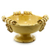 SCAVO JLENIA: Large Footed Bowl 3 Handles YELLOW