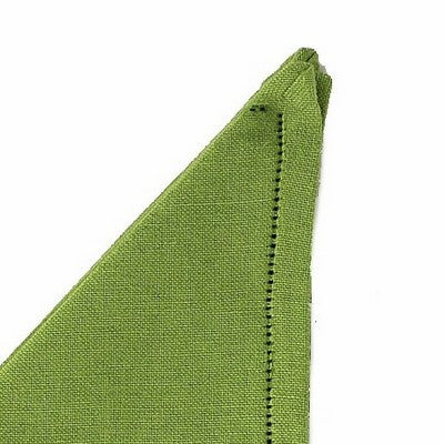 BUSATTI: Napkin Zodiaco Dinner Size Large (60% Linen and 40% Cotton) GREEN