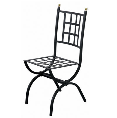 WROUGHT IRON CHAIR: Aurora Design<br> <font color=red><b>(In Stock - Immediate Delivery!)</b></font color>