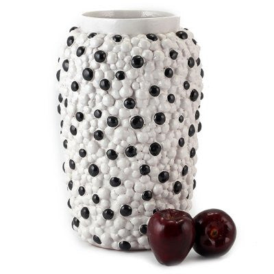 DOLFI PALLINI: Round Vase BLACK and WHITE