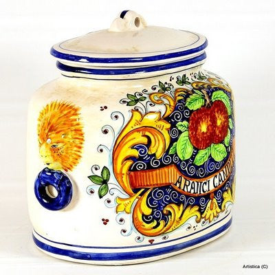 MAJOLICA: Oval canister ARANCI: e Candite (Candied Oranges)