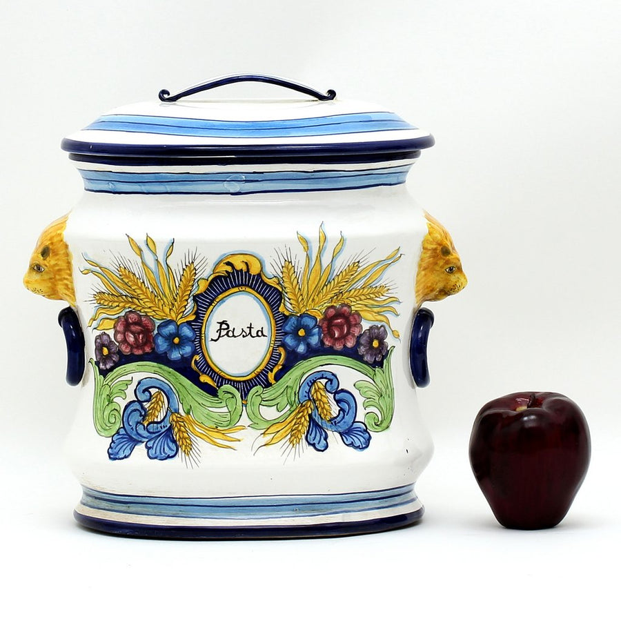 MAJOLICA: Oval canister Pasta (Pasta)