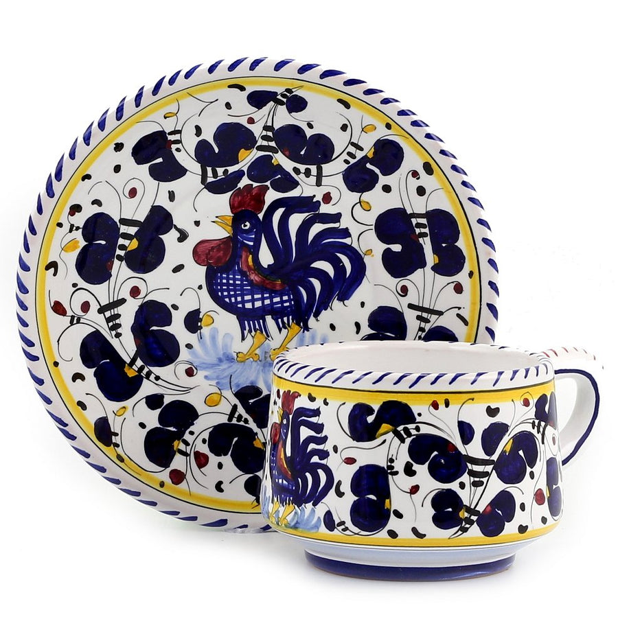 ORVIETO BLUE ROOSTER: 5 Pieces Place Setting