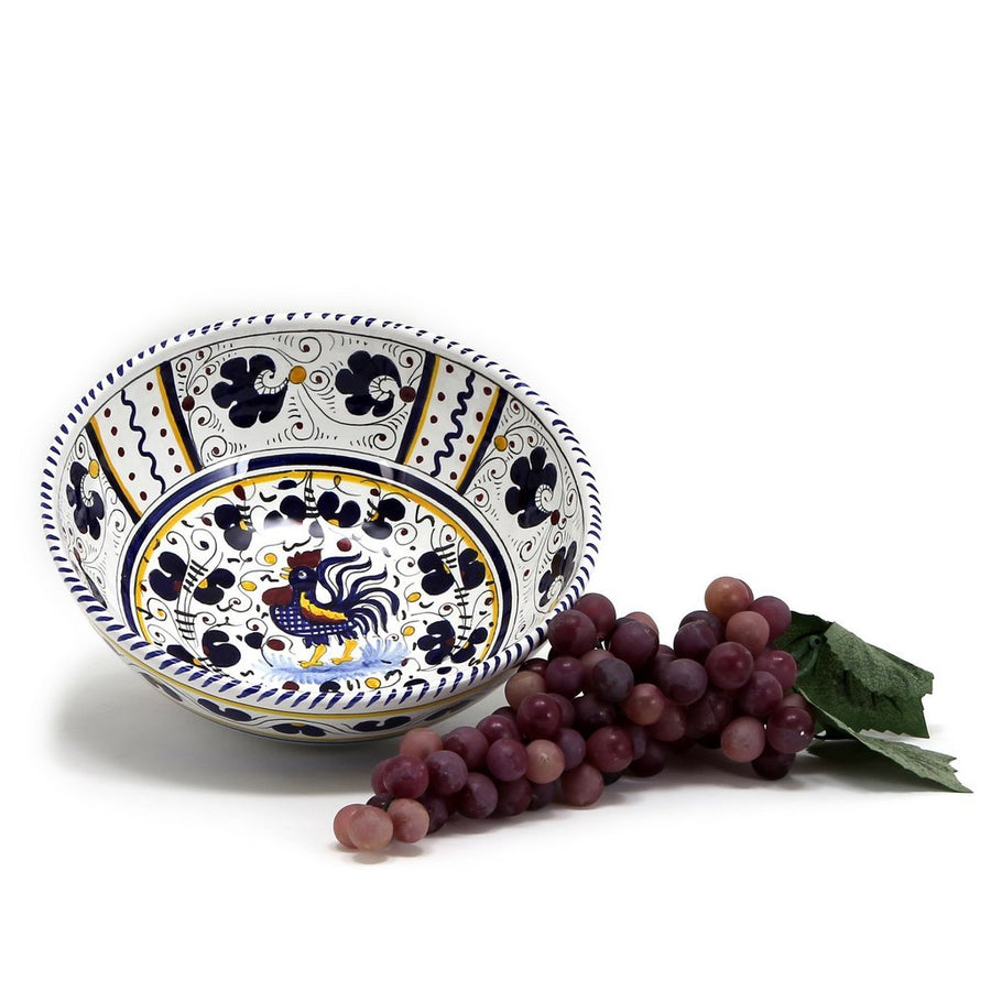 ORVIETO BLUE ROOSTER: Salad Bowl (Medium) [R]