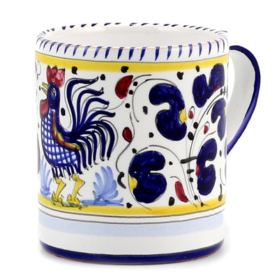 ORVIETO BLUE ROOSTER: 4 Pieces Place Setting - White center