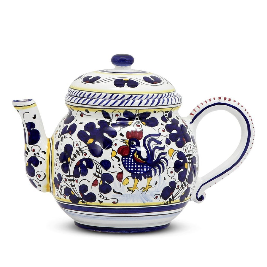 ORVIETO BLUE ROOSTER: Teapot [R]