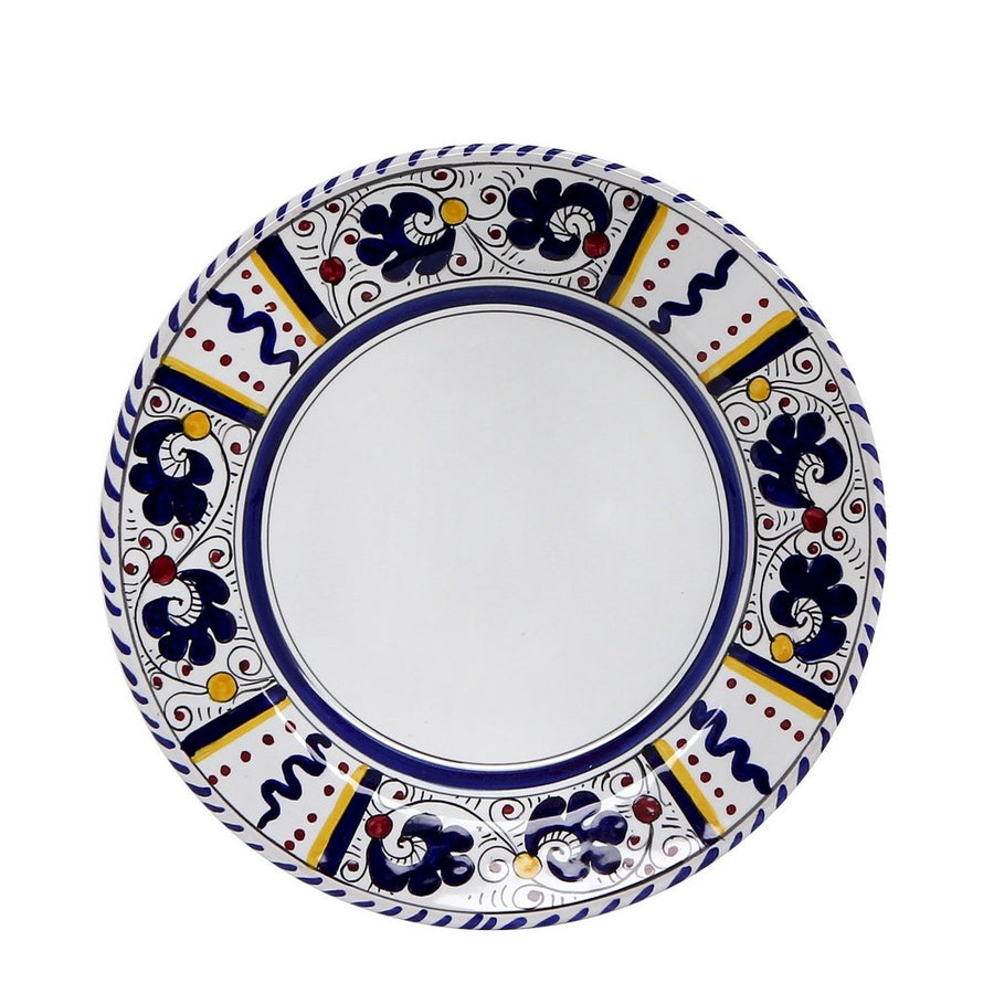 ORVIETO BLUE ROOSTER: Coupe Pasta Soup Bowl (White Center)
